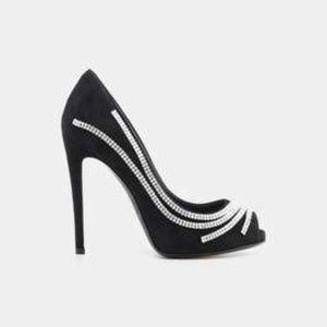 Giuseppe Zanotti Cam Crystal Embellished Heels